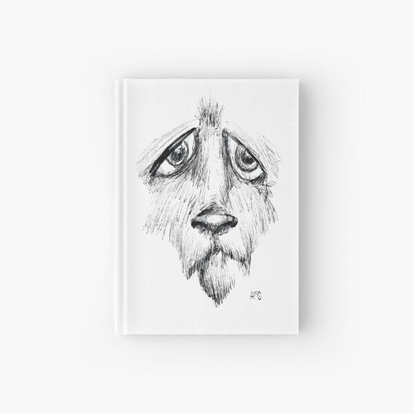 Sad Eyes Puppy Hardcover Journal