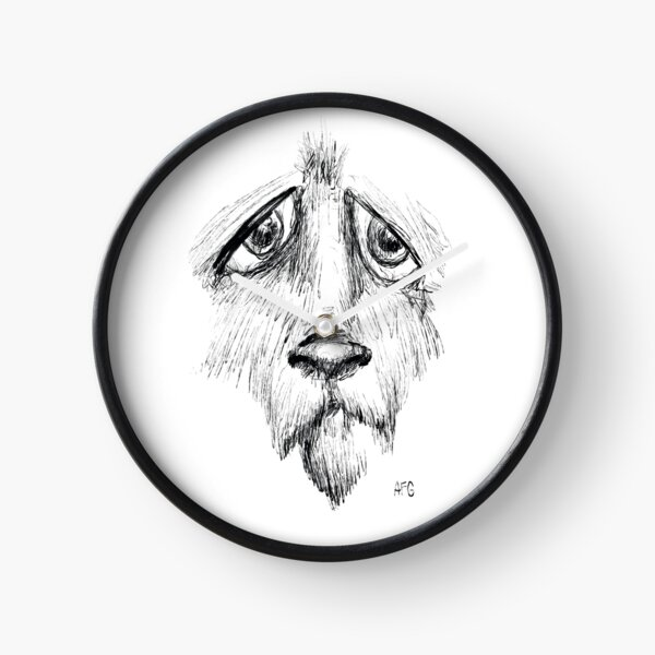 Sad Eyes Puppy Clock