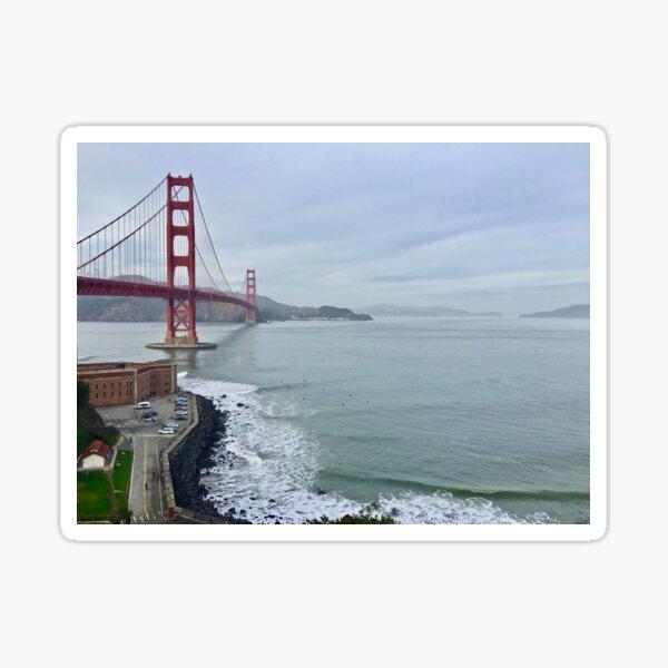 Golden Gate Bridge With Fort Point Sticker