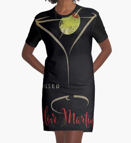 Olive Martini Graphic T-Shirt Dress