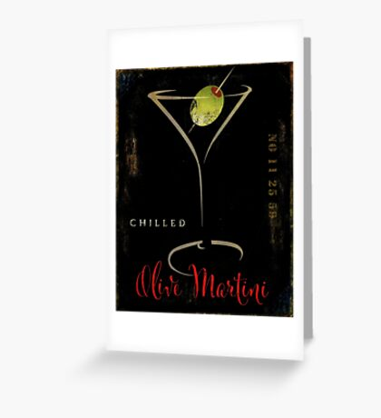 Olive Martini Greeting Card