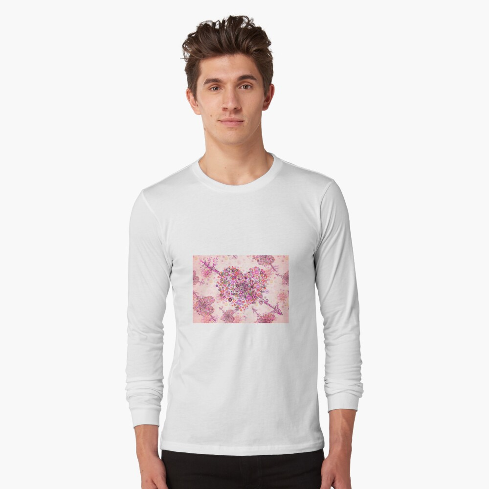 valentines day graphic heart Long Sleeve T-Shirt