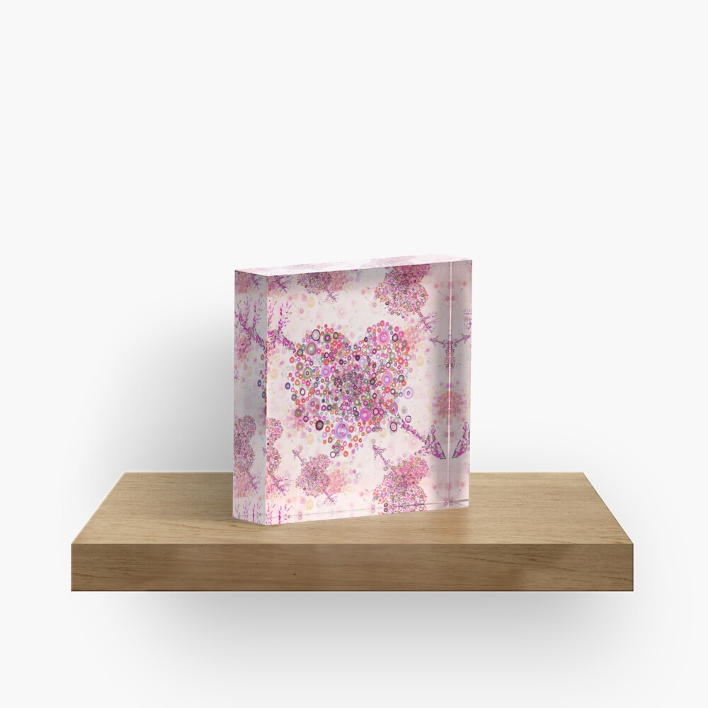 valentines day graphic heart Acrylic Block