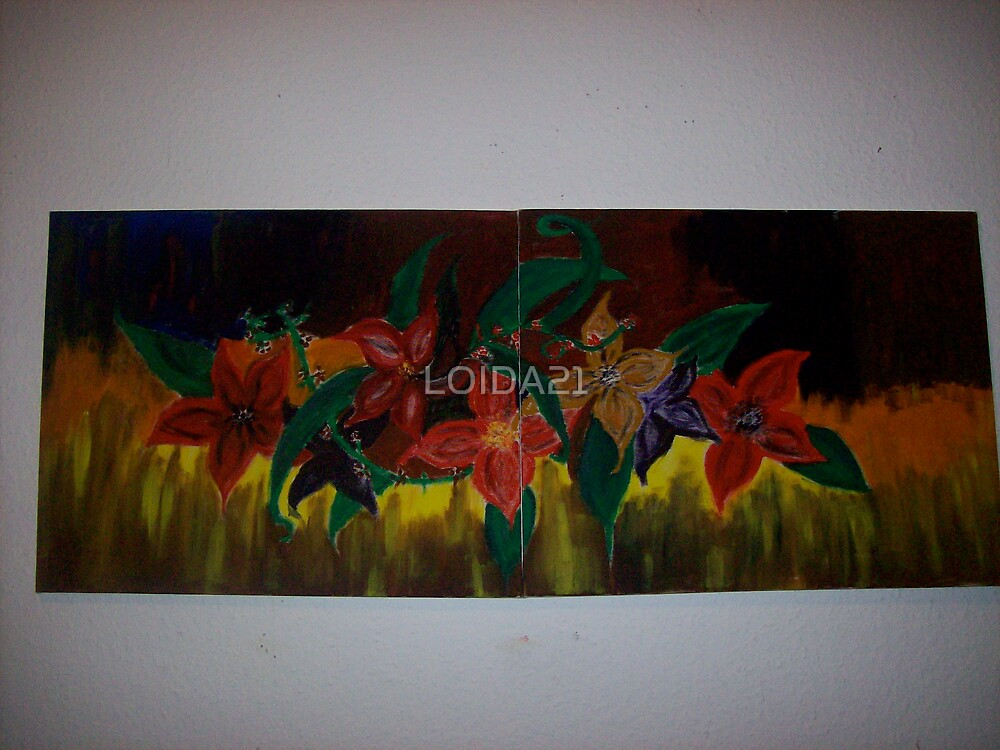flower painting by LOIDA21