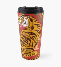 Tiger Folk Art Travel Mug