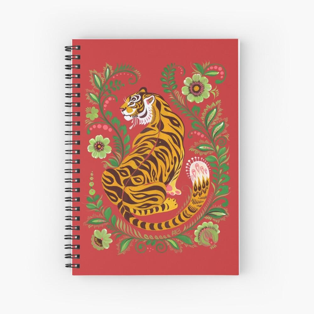 Tiger Folk Art Spiral Notebook