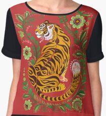 Art populaire tigre Top mousseline