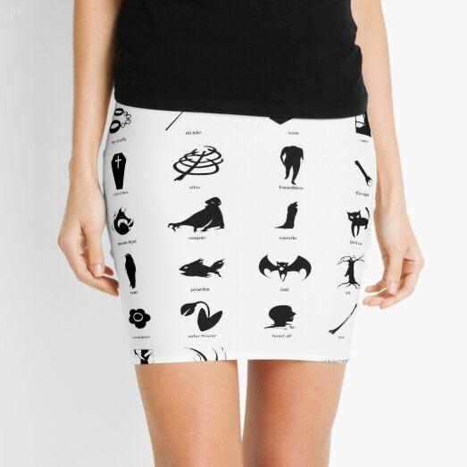 Symbols Inspired by Horror Movies Mini Skirt