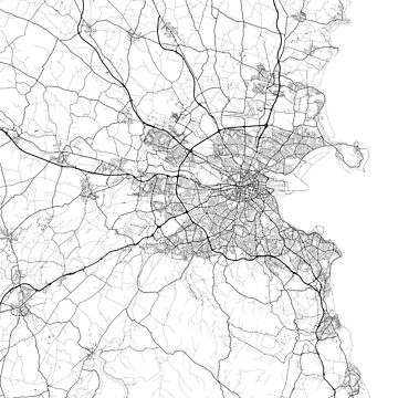 Dublin Minimalist Map by MishiInk