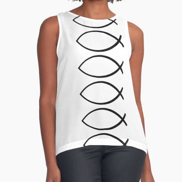 Ichthys - Christianity symbol Sleeveless Top