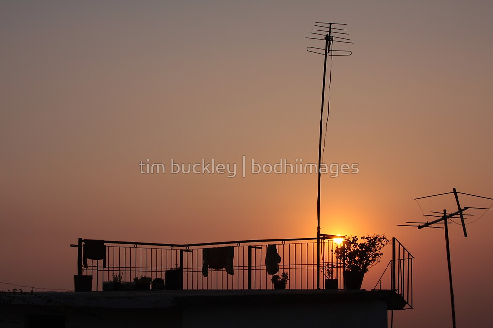 sunset, nadi village. kangra district, northern india by tim buckley | bodhiimages