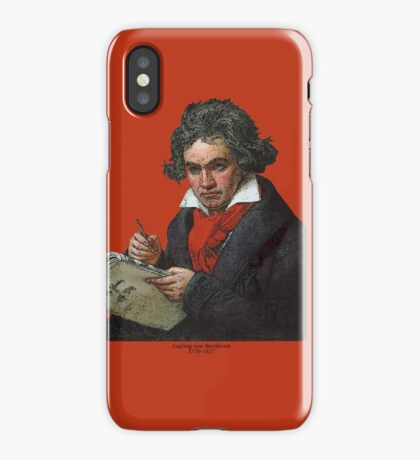 Ludwig van Beethoven Grunge iPhone Case