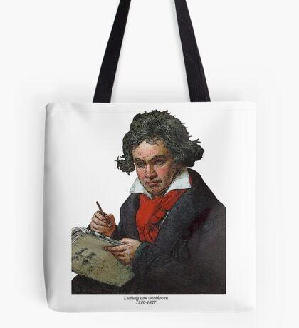 Ludwig van Beethoven Grunge Tote Bag