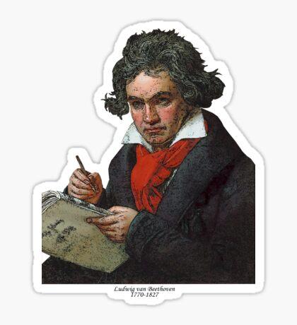 Ludwig van Beethoven Grunge Sticker