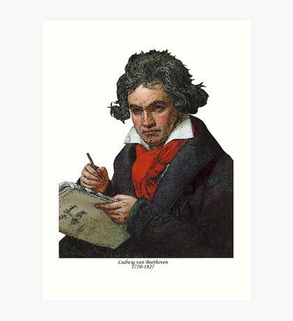 Ludwig van Beethoven Grunge Art Print