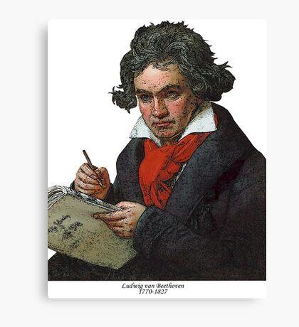 Ludwig van Beethoven Grunge Canvas Print