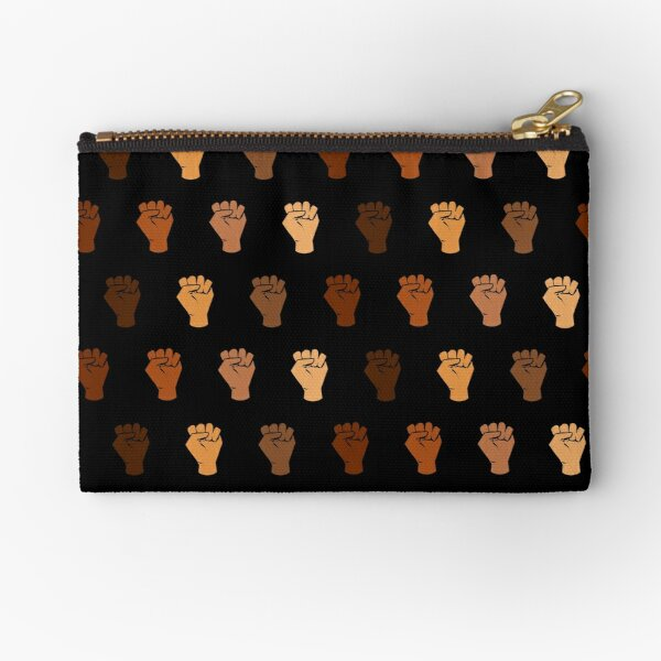 Black Power Zipper Pouch