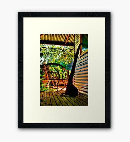 """""""On The Verandah"""" Framed Print"""