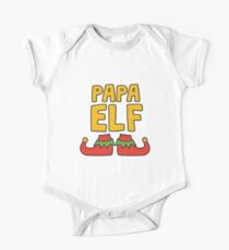 Papa Elf Shoes Christmas One Piece - Short Sleeve