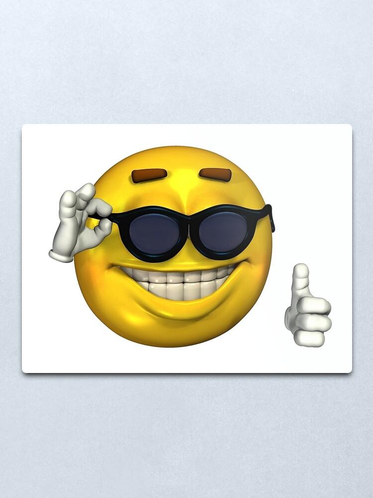 Impression Metallique Ironique Thumbs Up Emoji Par Jarudewoodstorm Redbubble