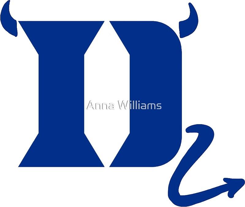 Duke Blue Devil Logo Stickers By Anna Williams Redbubble