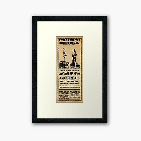 Being For The Benefit Of Mr. Kite Framed Art Print