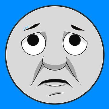 Thomas (upset face) by corzamoon