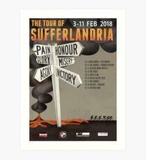 Tour of Sufferlandria 2018 Official Poster Art Print