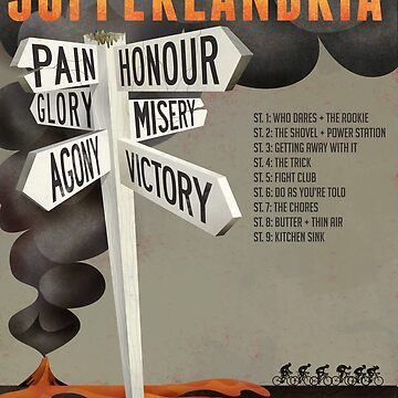 Tour of Sufferlandria 2018 Official Poster by bvduck