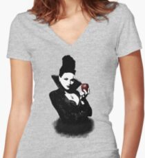 It's Not Just An Apple, It's A Weapon Women's Fitted V-Neck T-Shirt