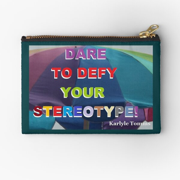 DEFY YOUR STEREOTYPE Zipper Pouch