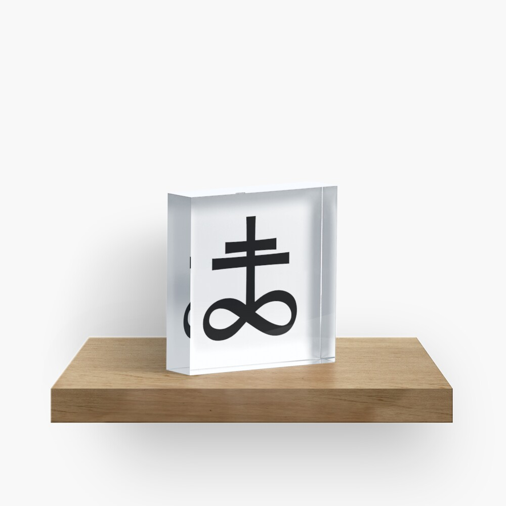 Infinity Cross (in black) Acrylic Block