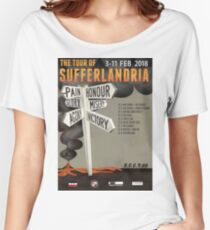Tour of Sufferlandria 2018 Official Poster Women's Relaxed Fit T-Shirt