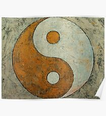 Gold Yin Yang Poster