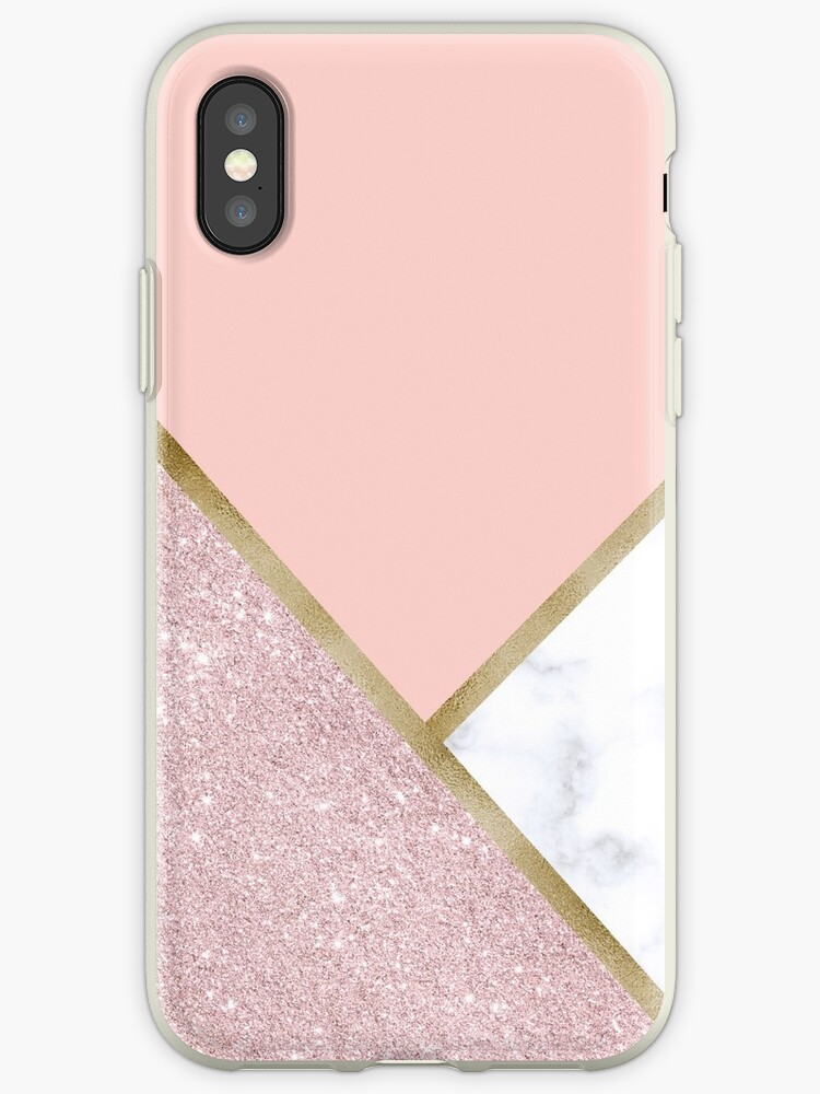 huge selection of 5bc84 7d9ac 'Elegant geometric rose gold glitter white marble' iPhone Case by NaughtyCat