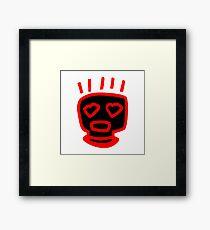 LOVE MAN (INVERTED RED FRAMED PRINT) Framed Print