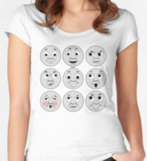 The Many Faces of Thomas (full faces) Fitted Scoop T-Shirt