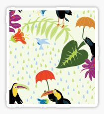 Toucans in the Rainforest  Sticker