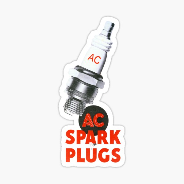 1950s Spark Plugs. For Chevy Ford & Dodge!  Sticker
