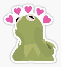 Kermit Emoji Heart Meme Drawing Sticker