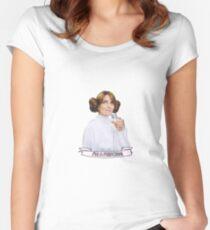 Liz Lemon as Leia - I'm a Princess! Women's Fitted Scoop T-Shirt