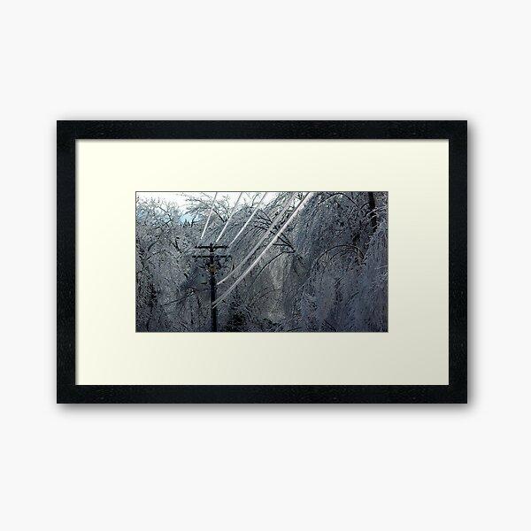 Powerlines Framed Art Print