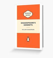 Penguin Book Shakespeare's Sonnets Greeting Card