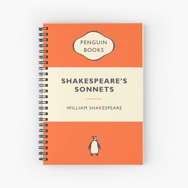 Penguin Book Shakespeare's Sonnets Spiral Notebook