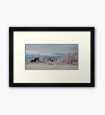 back end of the storm Framed Print