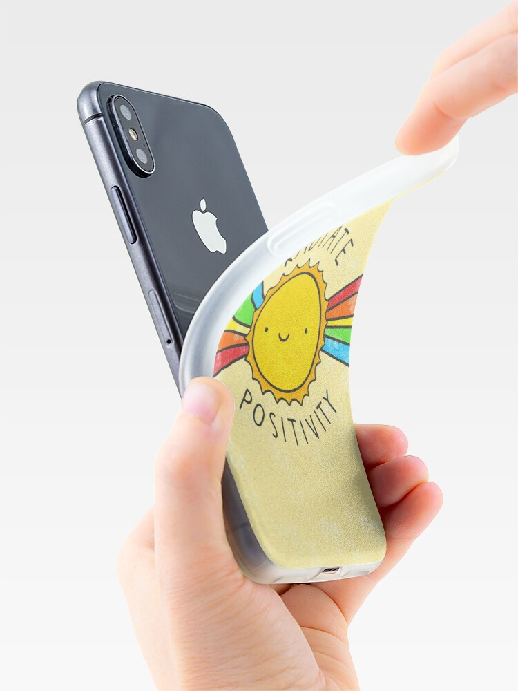 Alternate view of Radiate Positivity iPhone Cases & Covers