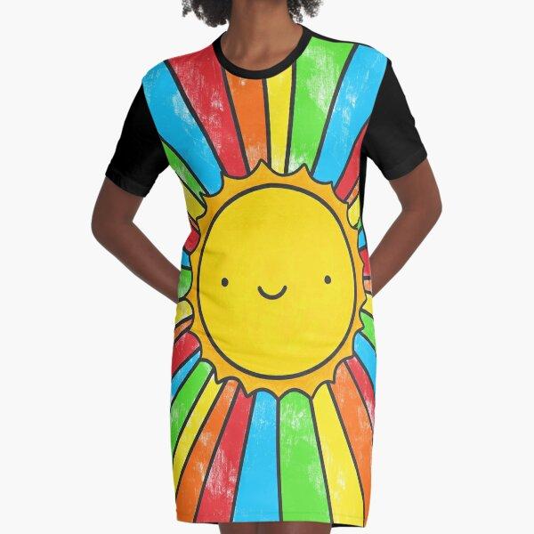 Radiate Positivity Graphic T-Shirt Dress
