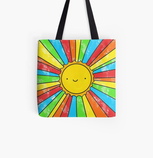 Radiate Positivity All Over Print Tote Bag