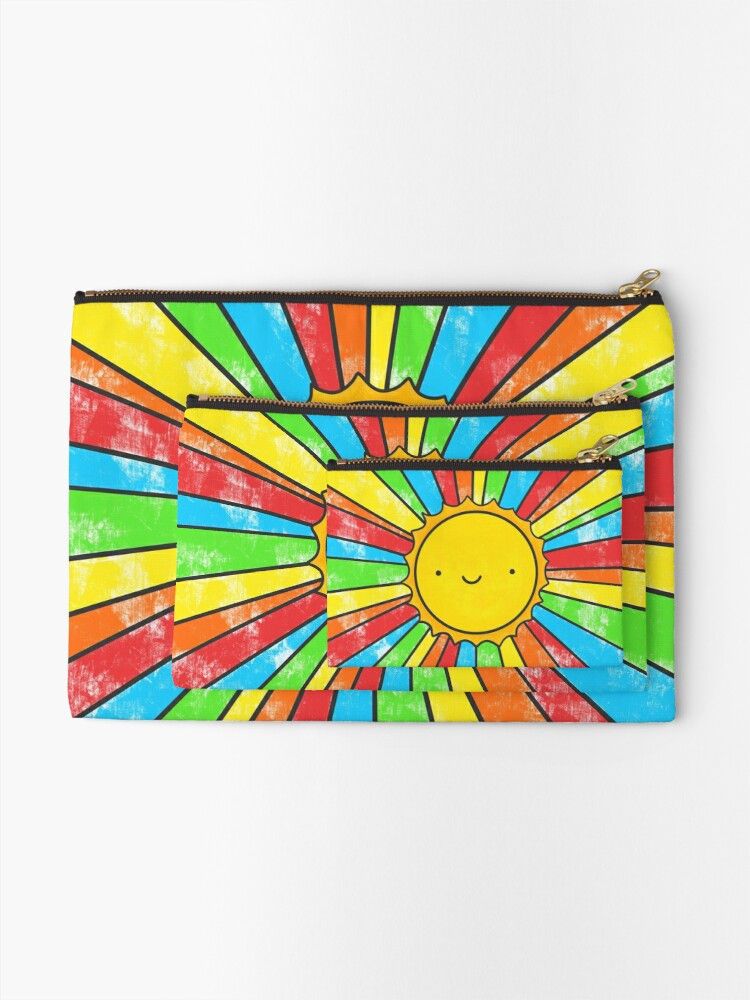 Alternate view of Radiate Positivity Zipper Pouch