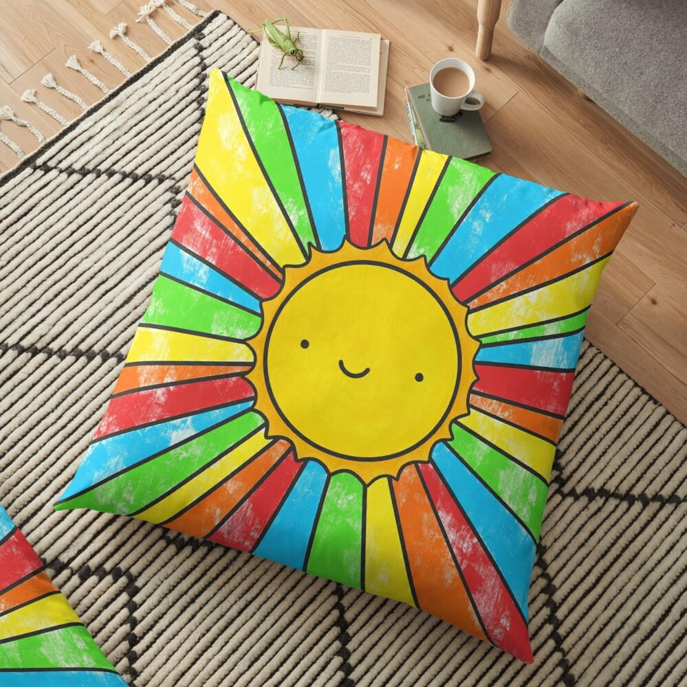 Radiate Positivity Floor Pillow